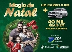 Cadastrar Promoção CDL Blumenau Natal 2020 Magia de Natal - 100 Mil em Prêmios