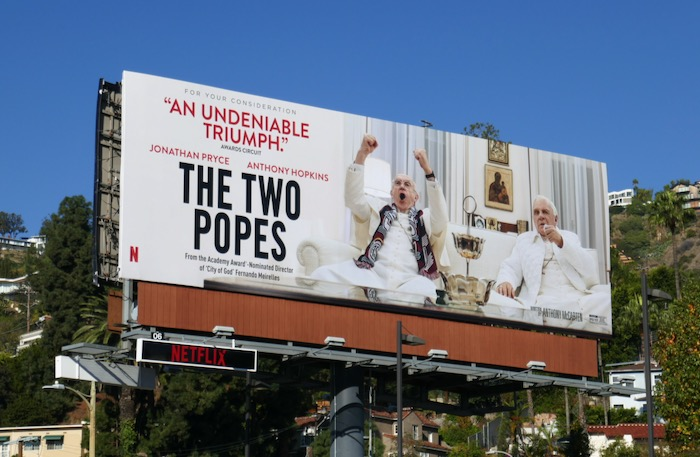 Two Popes For your consideration billboard