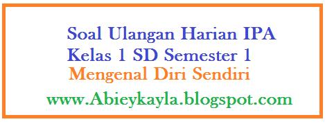 Soal Ulangan IPA Kelas 1 SD Semester 1 Materi Mengenal Diri Sendiri (KTSP)