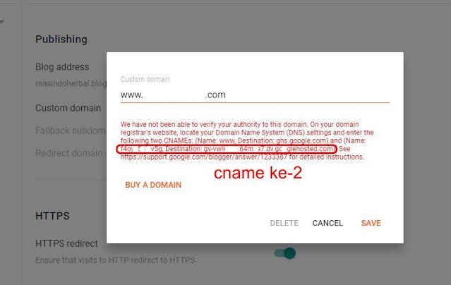 cname blogspot