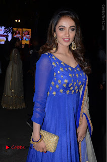 Telugu Actress Tejaswi Madivada Pos in Blue Long Dress at Nanna Nenu Na Boyfriends Audio Launch  0066.JPG