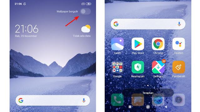 Cara Mematikan Wallpaper Bergulir di HP Xiaomi