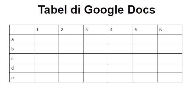 tabel google docs