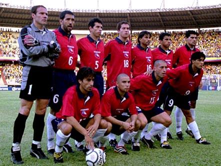 Formación de Chile ante Ecuador, Copa América 2001, 11 de julio