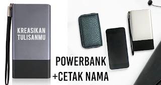 Powerbank dengan cetak nama merupakan salah satu inspirasi kado unik untuk orang yang tersayang di hari valentine