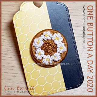 One Button a Day 2020 by Gina Barrett - Day 97 : Blackthorn