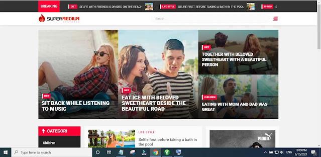 New Supermedium Blogger Template Main Features