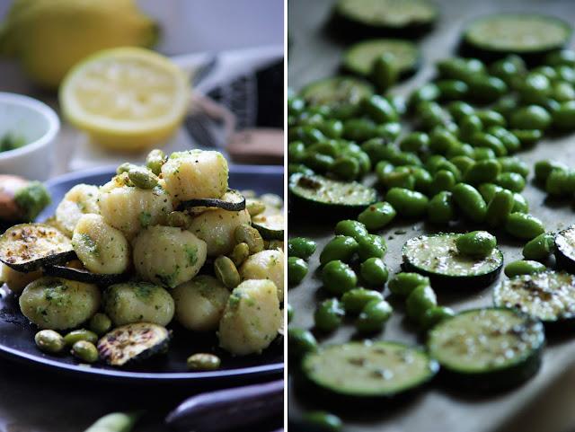 Grüne Sommer Gnocchi