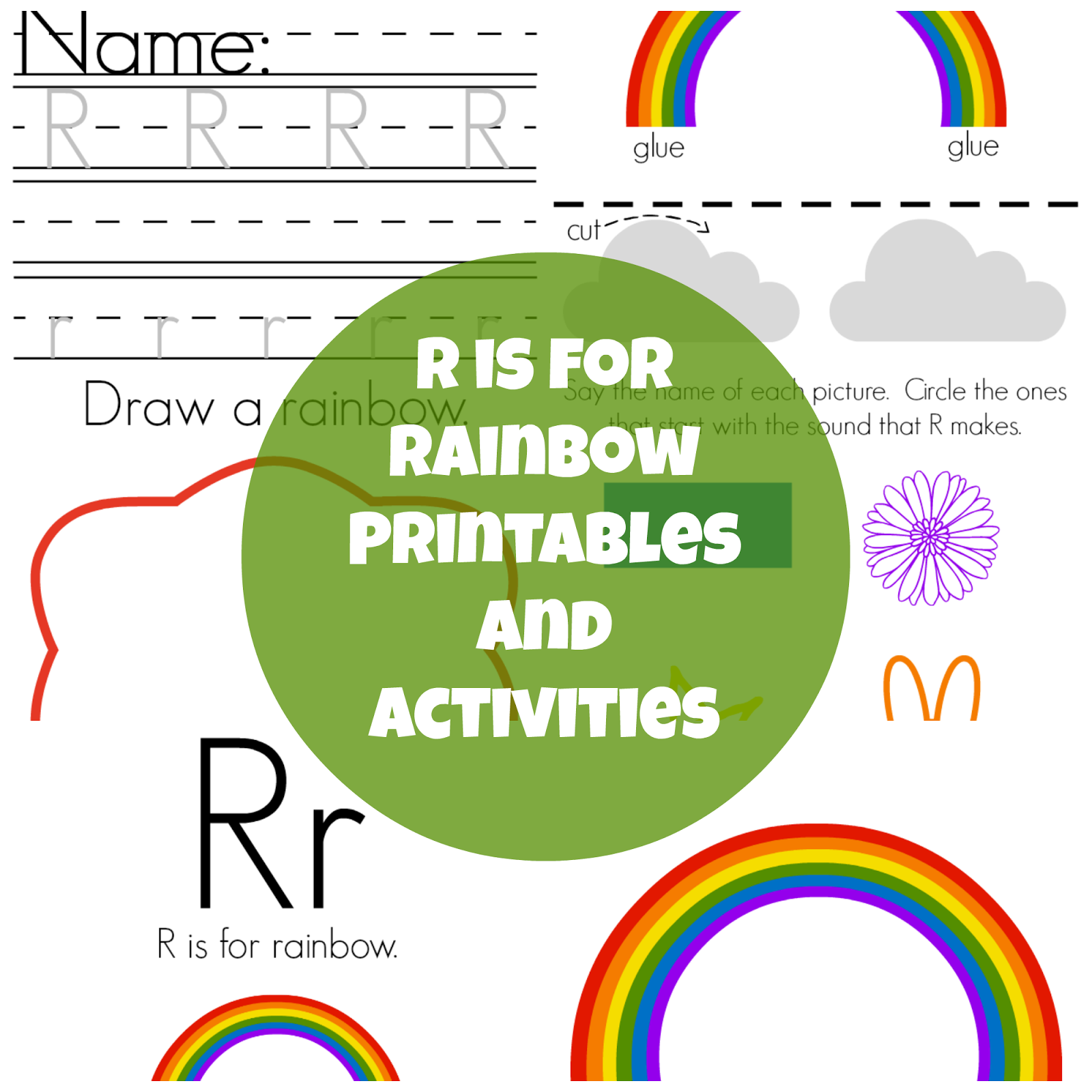The Life Of Jennifer Dawn R Is For Rainbow Preschool Printables And Activities