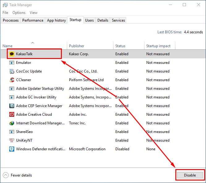 Cách tắt ứng dụng khởi động cùng Windows