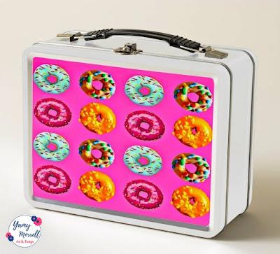 pattern-pink-donuts-lunch-box-zazzle-by-yamy-morrell
