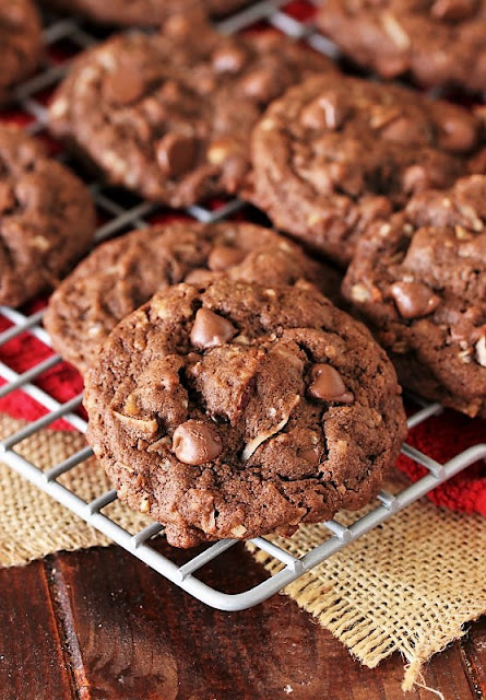 German Chocolate Chip Cookies on Cooling Rack Image