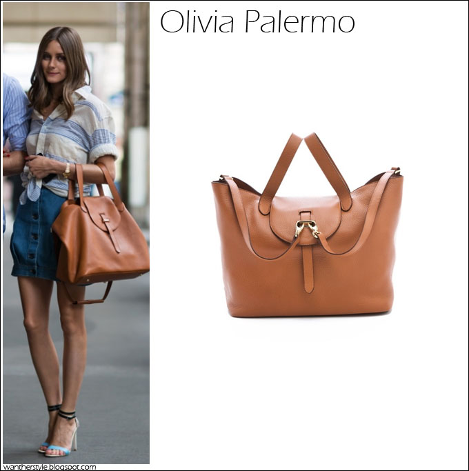 16bf49f2e8 WHAT SHE WORE: Olivia Palermo in Paris with tan ONE by Meli Melo Thela bag  ~ I want her style - What celebrities wore and where to buy it. Celebrity  Style