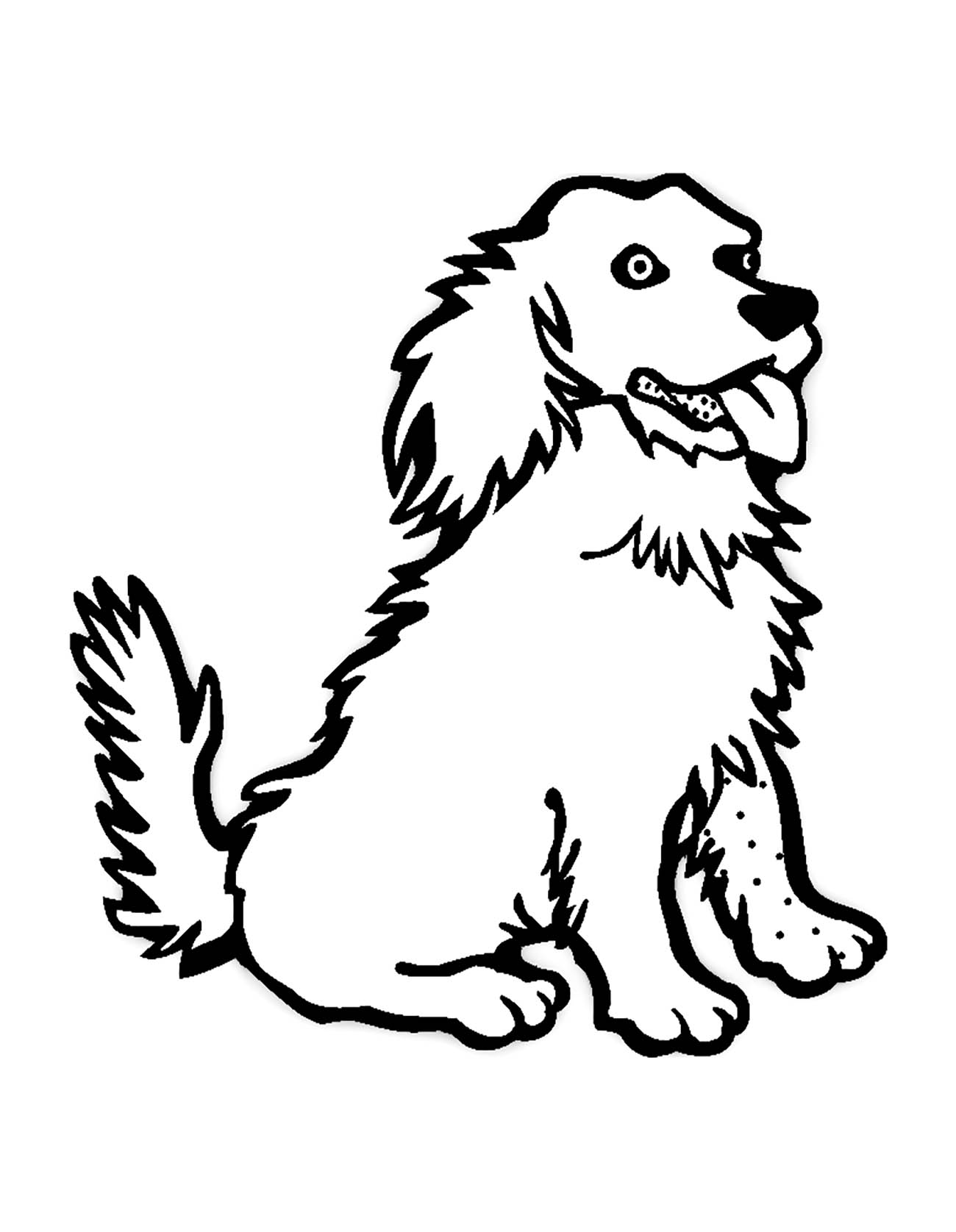 Dogs coloring pages 83