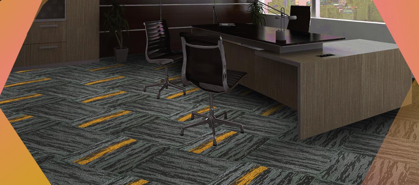 desain ruang kerja dalam rumah dengan karpet