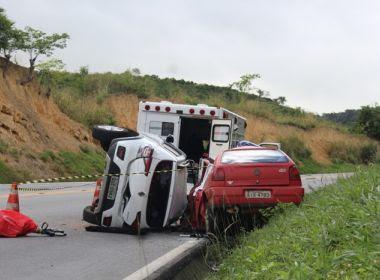 Jaguaquara - BA: Acidente entre carros na Serra do Mutum deixa quatro mortos e um ferido