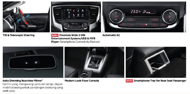 interior & fitur new triton 2020