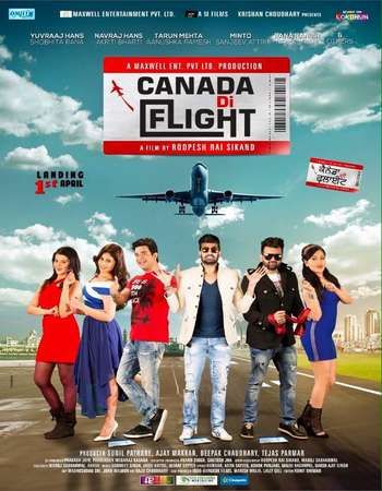 Poster Of Canada Di Flight 2016 Punjabi 450MB DVDRip 720p HEVC Watch Online Free Download Worldfree4u