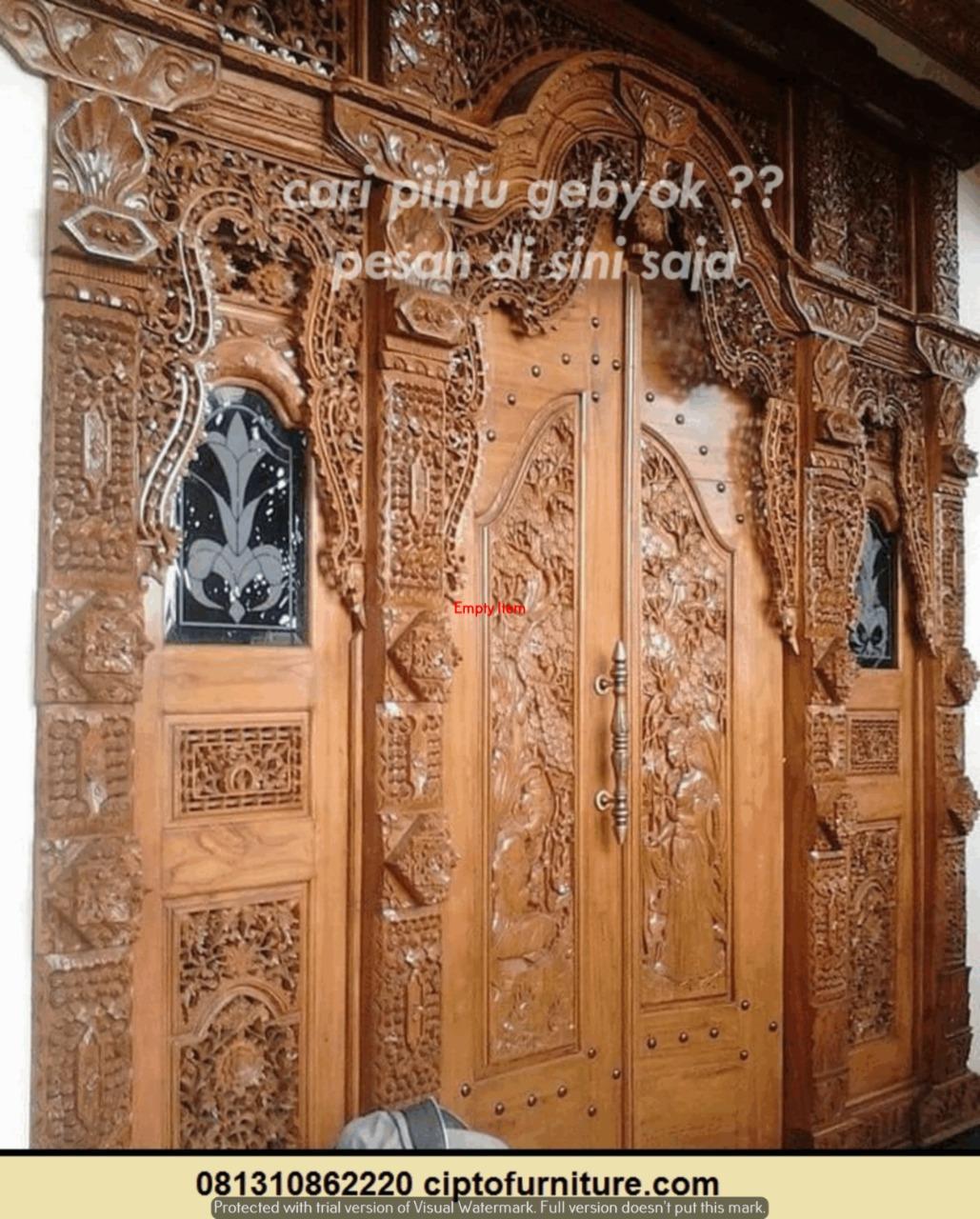 Kumpulan Desain Pintu Gebyok Terbaru | Produsen Pintu ...