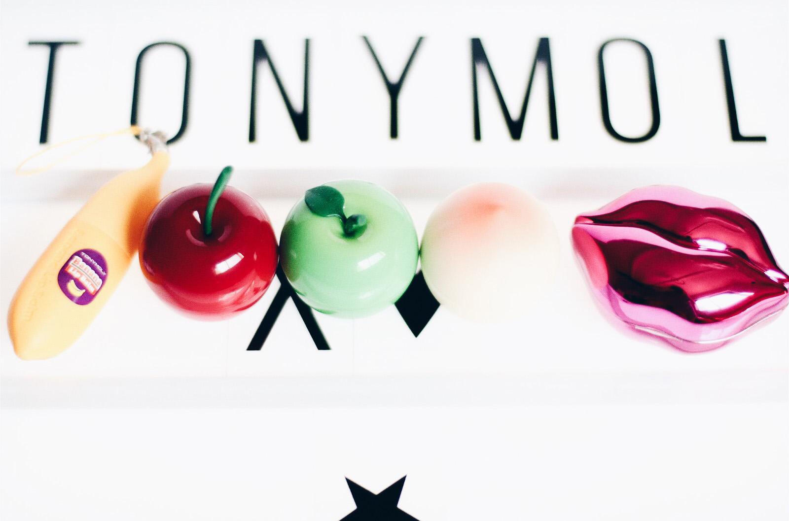 tonymoly baumes à lèvres banane cherry peach peche green apple pomme verte bbo bbo bluberry avis test