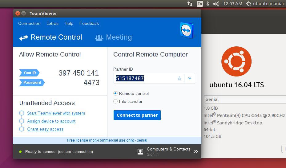 Step by Step Install TeamViewer on Ubuntu 16 04 'Xenial