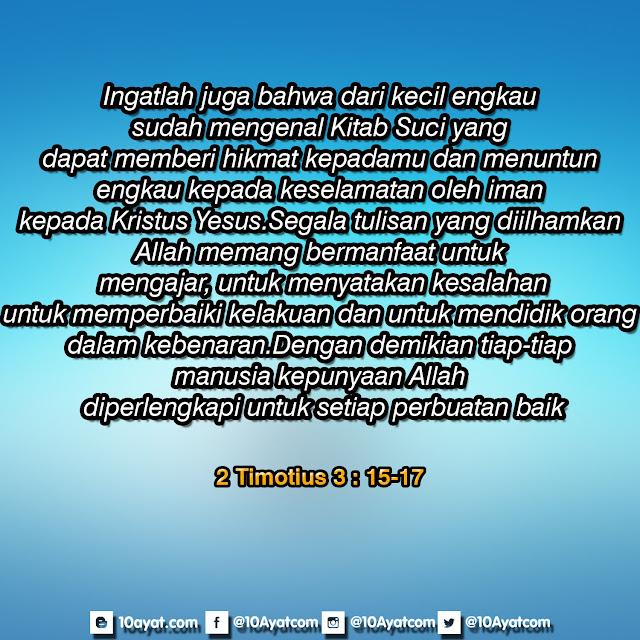 2 Timotius 3: 15-17