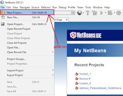 3 - Tutorial 1 Pemrograman Java Netbeans – Cara membuat Project Baru