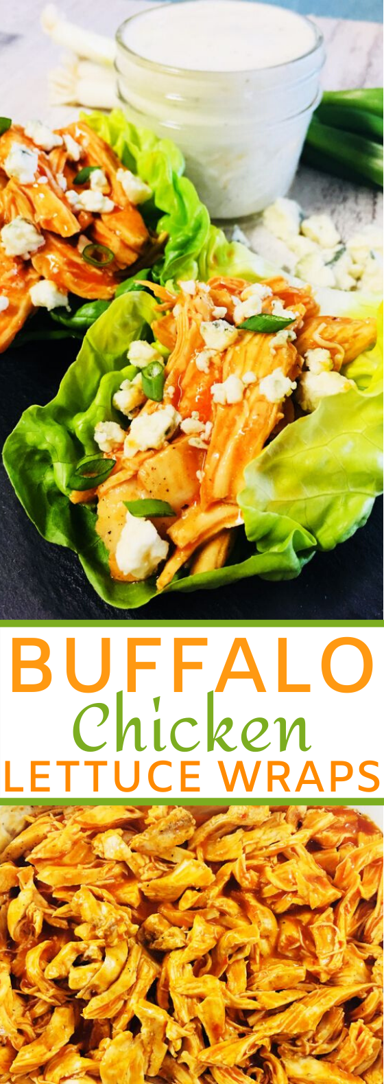 Buffalo Chicken Lettuce Wraps #healthy #lunch #lowcarb #keto #chicken