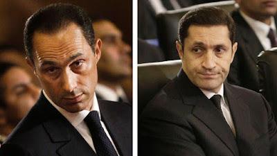 محاكمة علاء وجمال مبارك, التلاعب بالورصة, فريد الديب, الاساء لابناء مبارك, محمد حسنى مبارك,