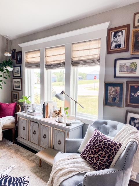 painters drop cloth window treatments
