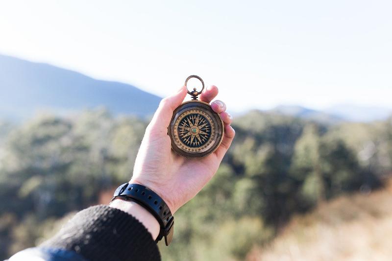 kompas góry