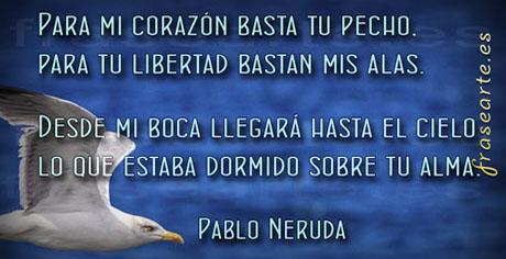 Versos de amor, Pablo Neruda