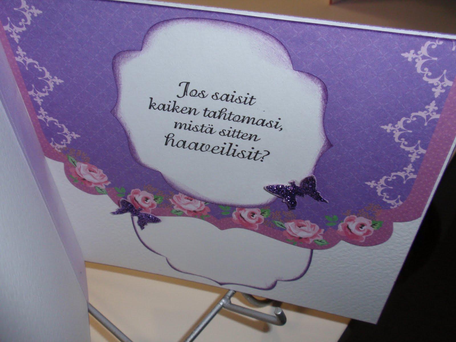 äitiysloma korttiin teksti
