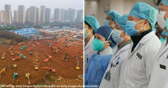 Китай строит больницу за 6 дней, потому что не хватает коек