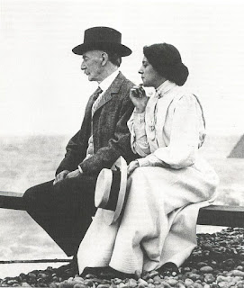 Thomas Hardy with Florence Dugdale