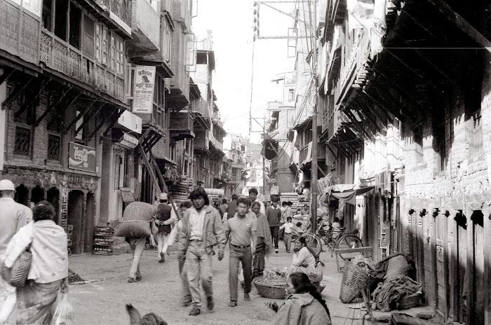 Népal, Katmandou, Thamel, © L. Gigout, 1990