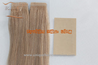 Indian remy tape hair extensions