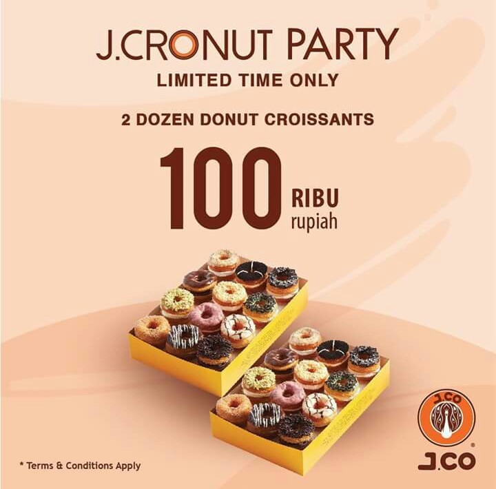 Promo JCO JCronut 2 Lusin 100Ribu September 2018