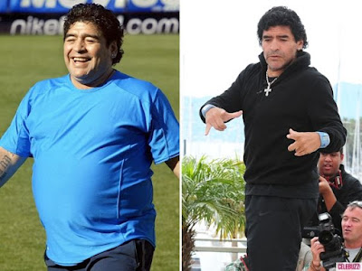 image result for Maradona fat tennis ball video