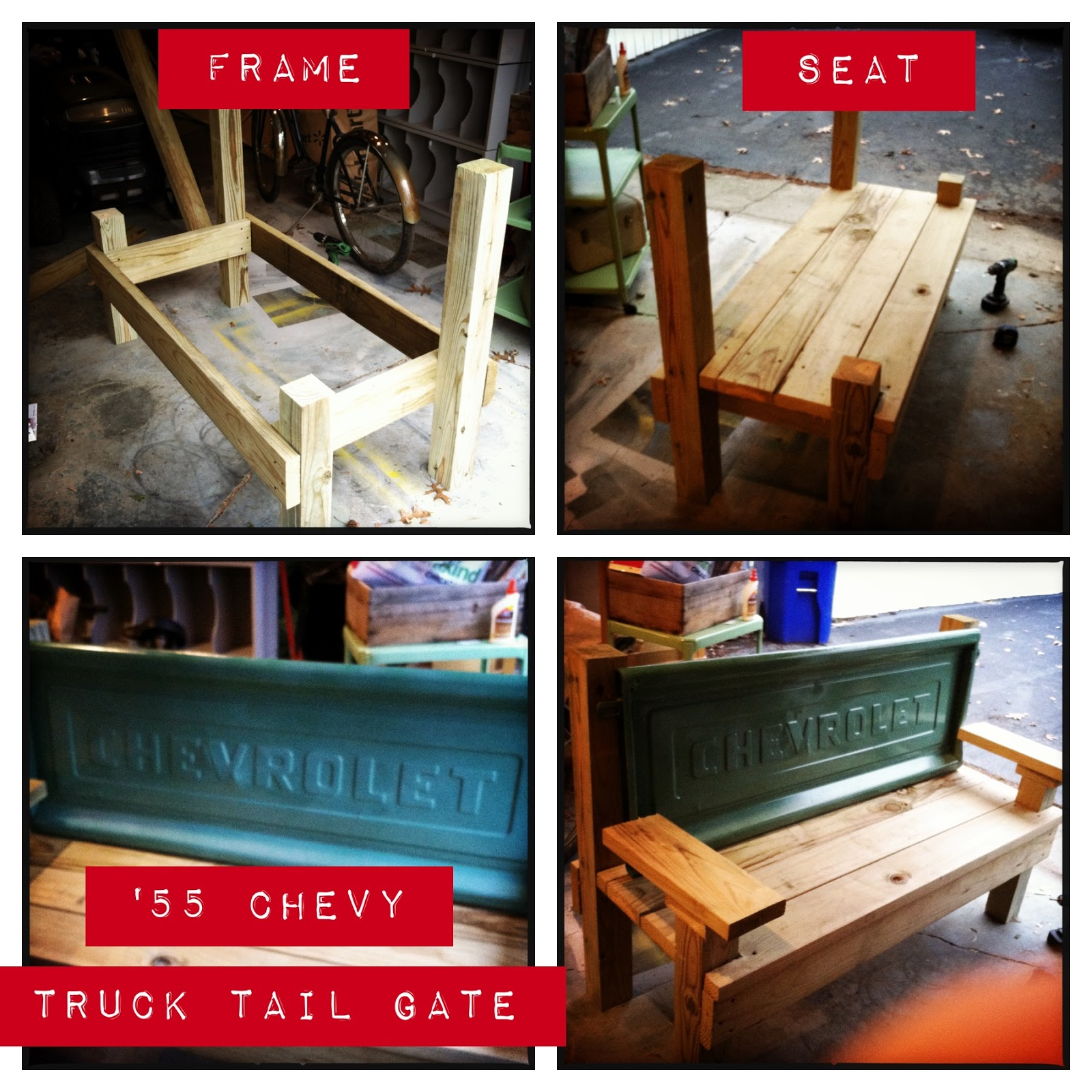 Tales from a Cottage: Chevy Truck Bench