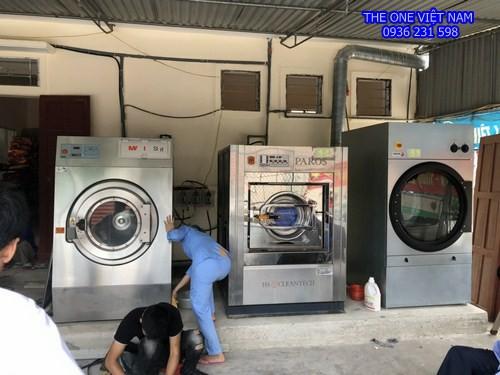 Máy giặt  sấy công nghiệp cho công ty thủy sản