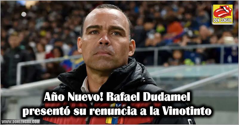 Año Nuevo! Rafael Dudamel presentó su renuncia a la Vinotinto