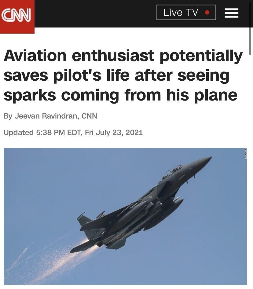 F-15E 조종사를 구한 항공기 마니아 - 짤티비