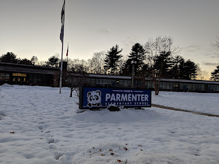 Parmenter School has a new sign!