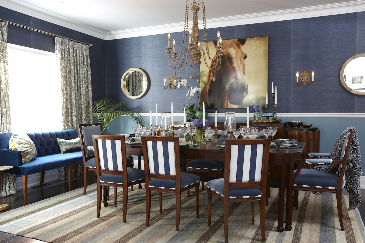 Dining Room Ideas In Blue Sarah 39s House 4 Family Room And Dining Room Rambling