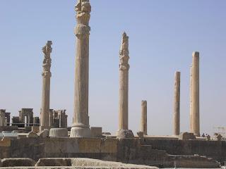 Palacio de las cien columnas, en Persépolis
