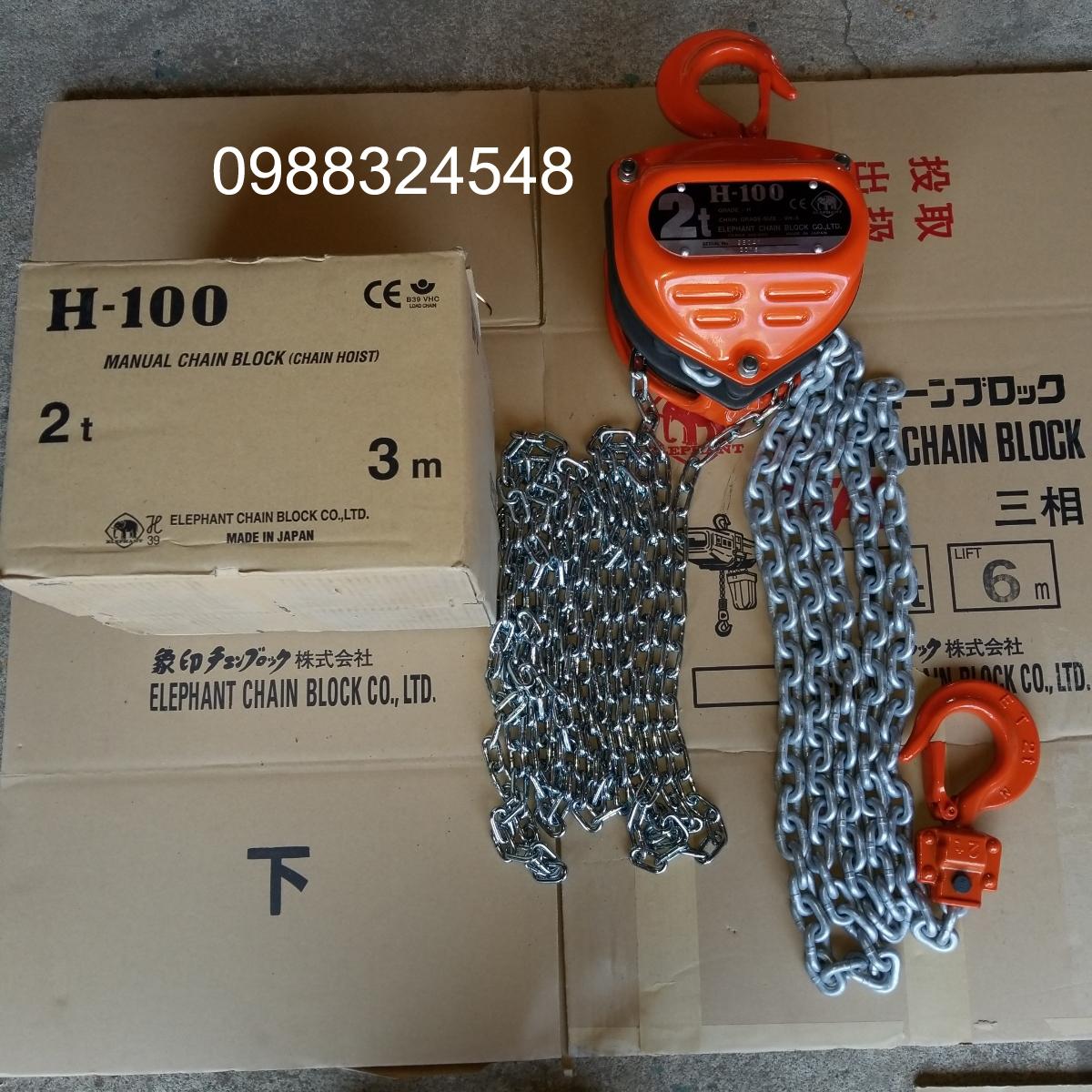 palang kéo tay Elephant H100 2000kg