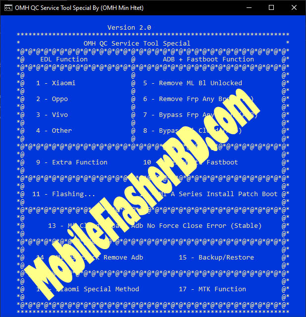 latest OMH Qc Special Service Tool v2.0 By OMH Min Htet Free Download