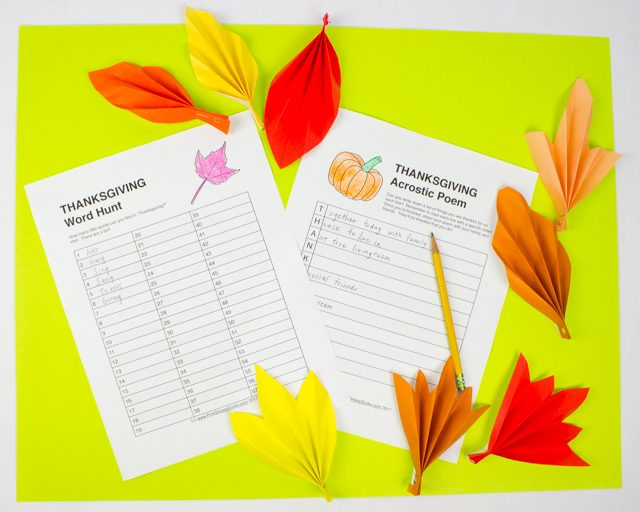 Free Thanksgiving Acrostic And Word Hunt Printables Pink