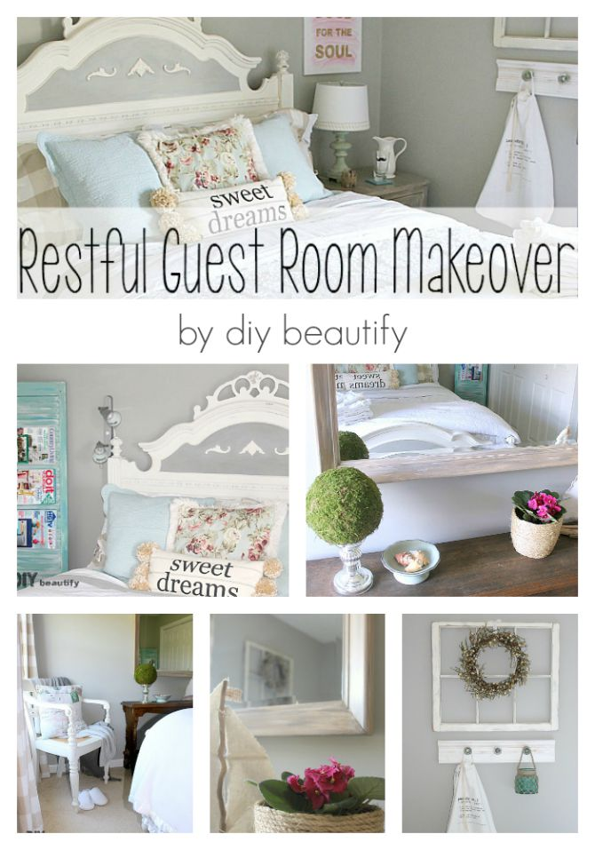 cottage style guest room makeover